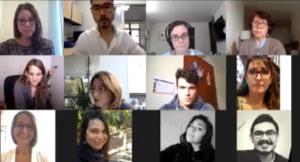 Imagen participantes webinar vía zoom