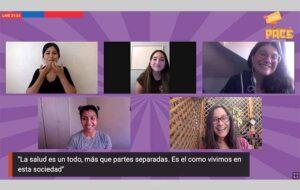 Profesionales de PACE UC y del programa PACE de otras Instituciones de Educación Superior, en la feria virtual Ven a Elegir PACE.