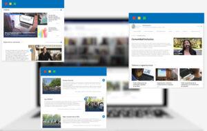 Pantallazos sitio web Inclusión UC: inclusion.uc.cl
