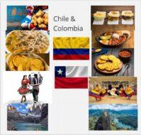 Imágenes de costumbres y platos típicos de Chile y Colombia
