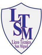 Logo Liceo Técnico San Miguel, con el nombre del establecimiento y las iniciales en letras mayúsculas. Este es uno de los liceos que acompaña el PACE UC